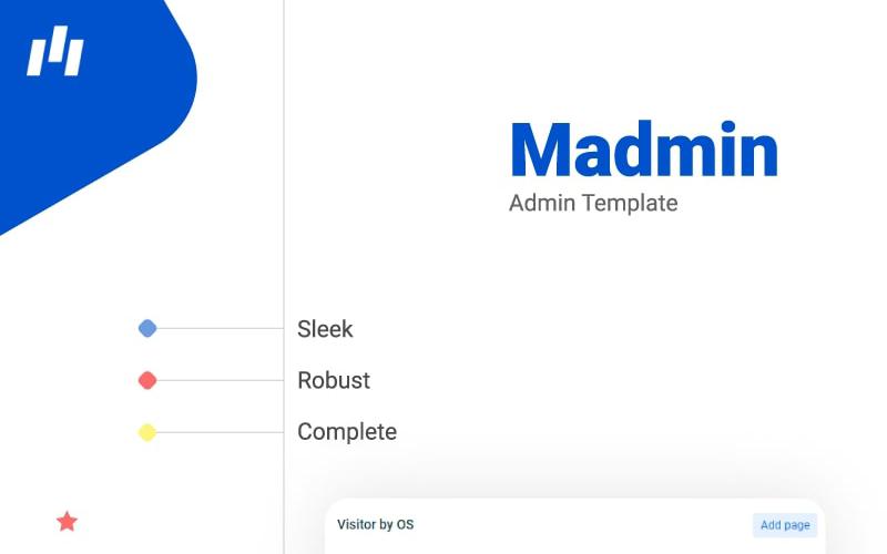 Šablona pro správu řídicího panelu Madmin Bootstrap