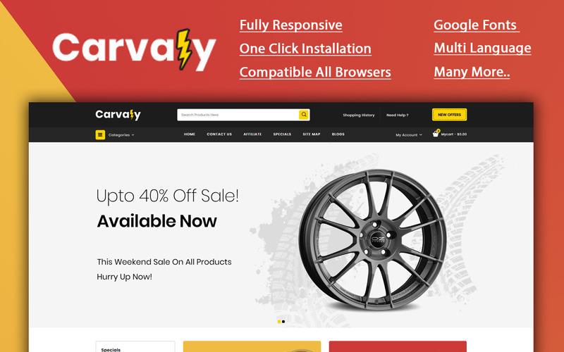 Carvaly - Šablona OpenCart obchodu Autopart