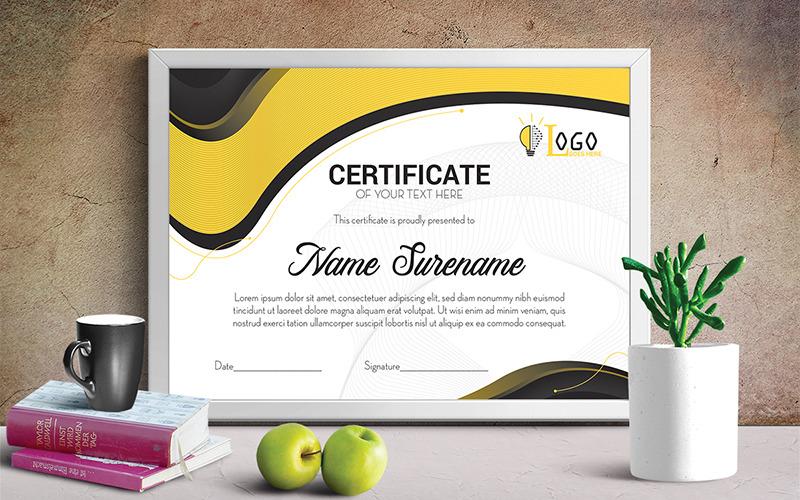 Šablona certifikátu umělce