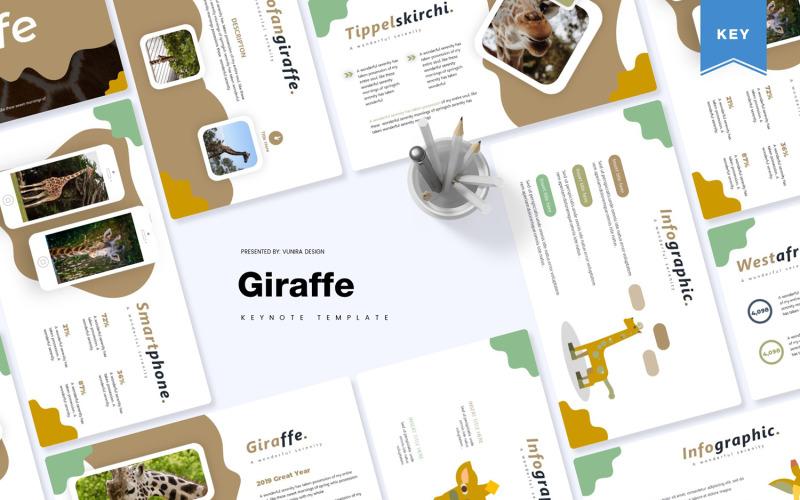 Žirafa - šablona Keynote