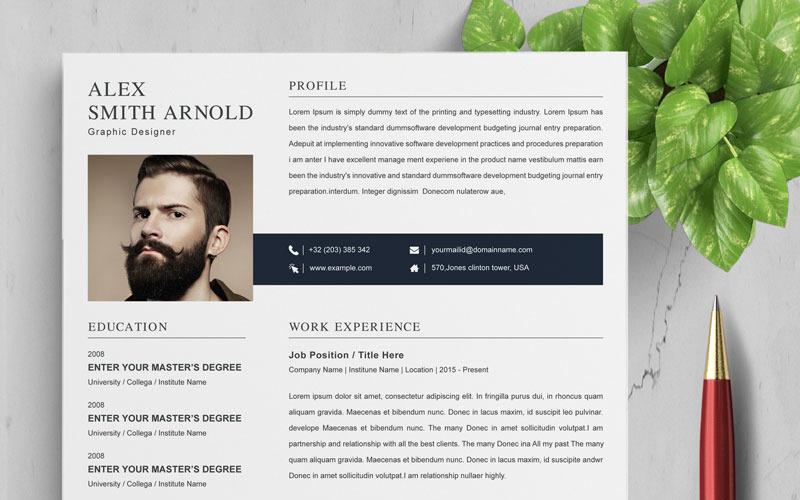 Šablona životopisu Arnolda