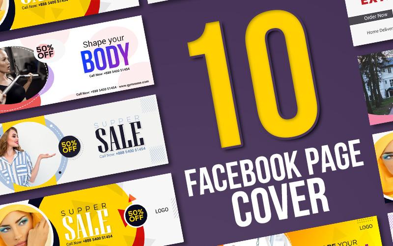 10 Facebook Cover Bundle Social Media Template