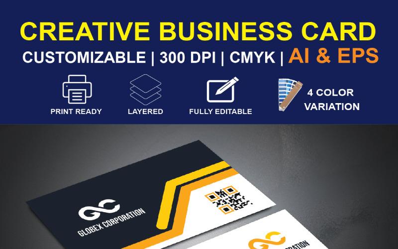 Čistý design vizitky - šablona Corporate Identity
