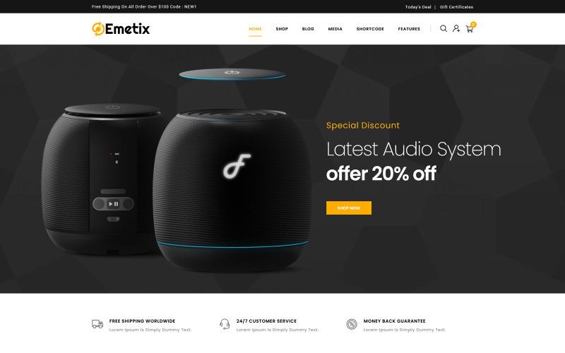 Emetix - Digital Shop WooCommerce-tema