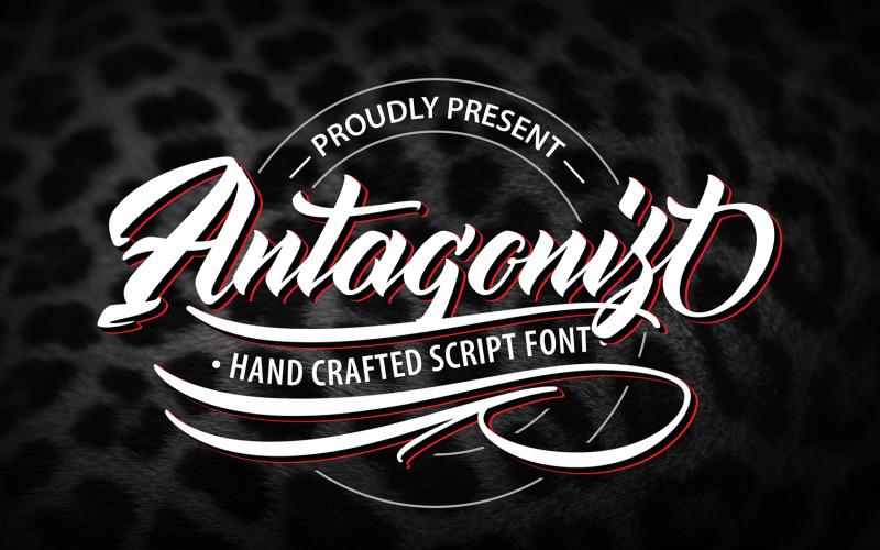 Antagonis | Ručně vyrobené kurzívové písmo