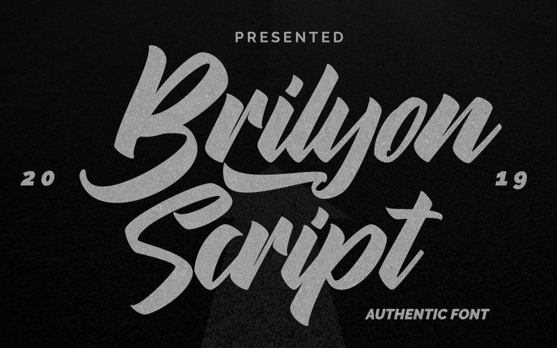 Brylion Script | Unikátní autentické písmo