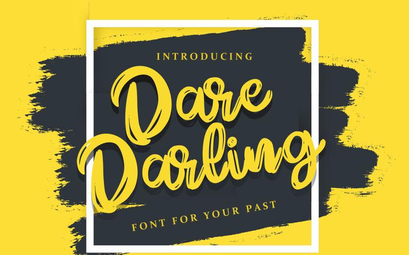 Dare Daling   Skriptové písmo