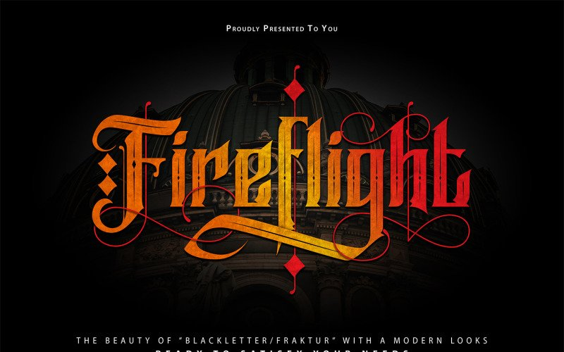 FireFlight | Blackletter moderní písmo