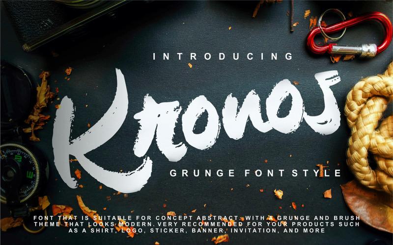 Kronos | Grunge styl písma