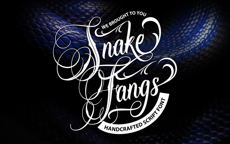 Hadí tesáky | Ručně vyrobené kurzívové písmo
