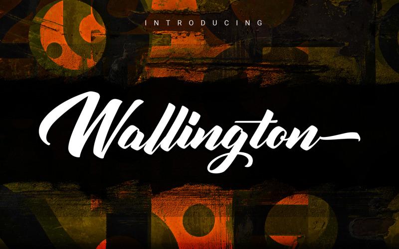 Wallington   Kurzivní písmo štětec písma