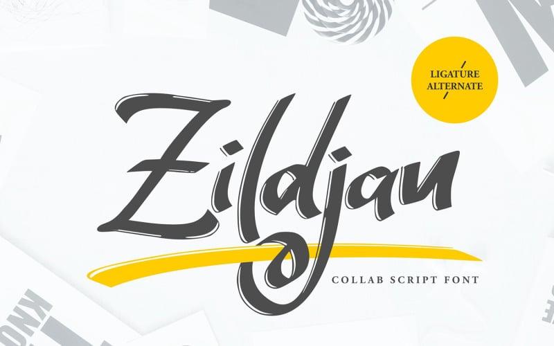 Zildjan | Skriptové písmo