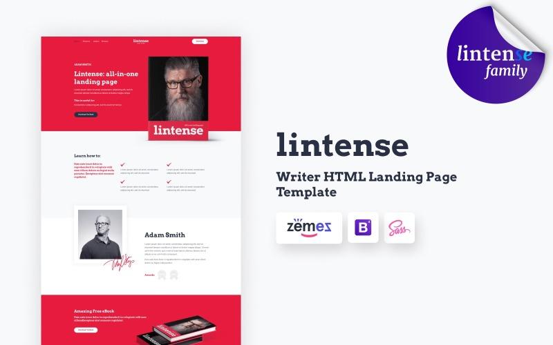 Книжковий магазин Lintense - шаблон цільової сторінки HTML Writer