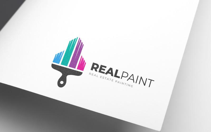 Realitní malba Logo šablona