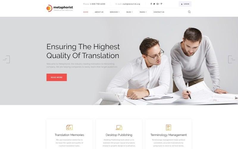 Metaphorist - Translation Bureau Multipage Elegant HTML Website Template