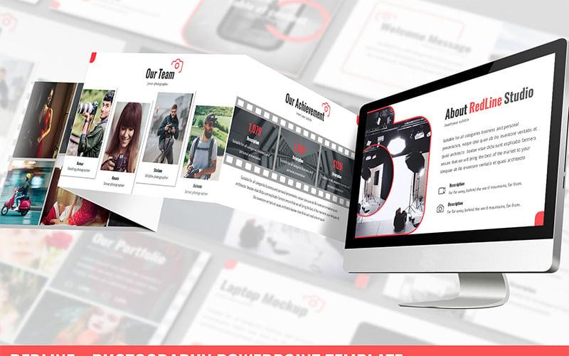 Redline - Photography PowerPoint šablony