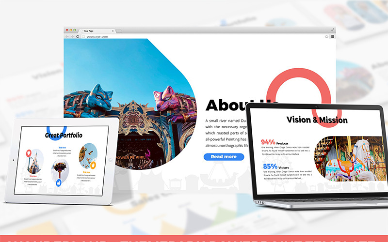 Wonderland - Theme Park PowerPoint šablony