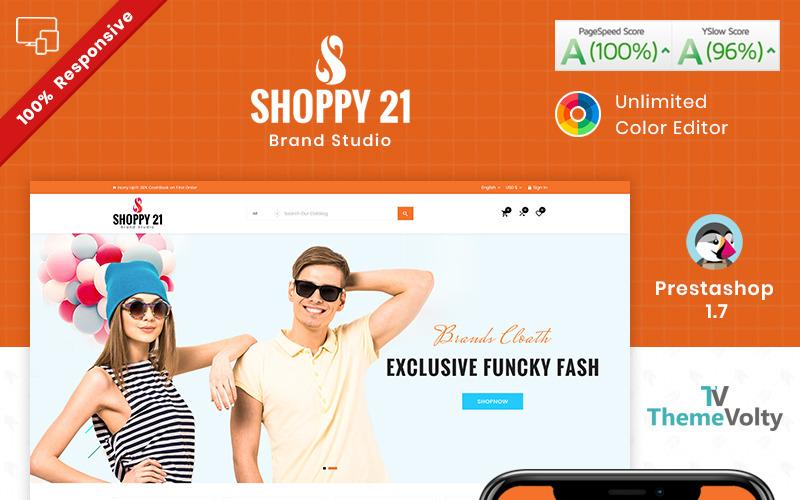 Shoppy21 - PrestaShop motiv Responzivní obchod s módou