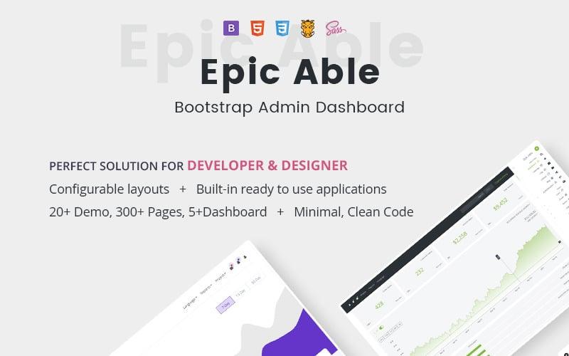 Šablona pro správu Epic Bootstrap a UI KIT
