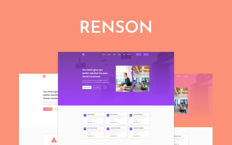 Renson - responzivní šablona vstupní stránky