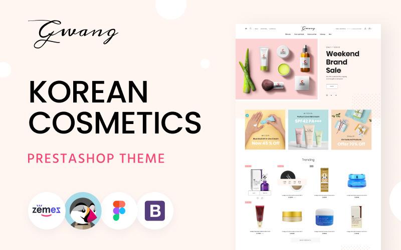 Gwang - Koreanska kosmetiska e-handelsmallar PrestaShop-tema