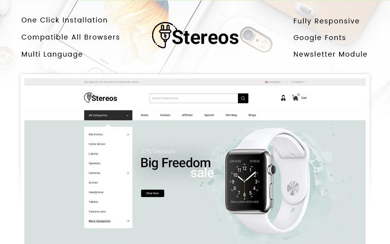 Stereos - szablon OpenCart sklepu elektronicznego