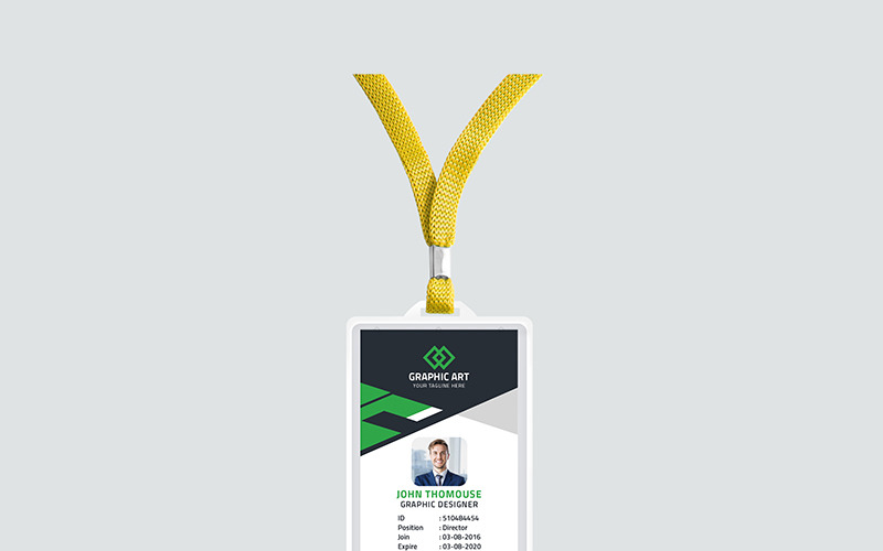 Průkaz totožnosti úřadu - šablona Corporate Identity