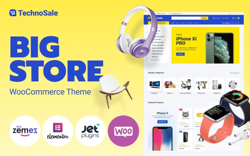TechnoSale - Modern online e-kereskedelmi élelmiszerbolt WooCommerce téma