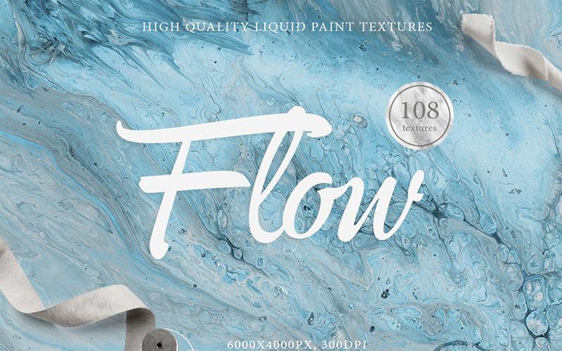 108 Przepływ płynnych tekstur w tle