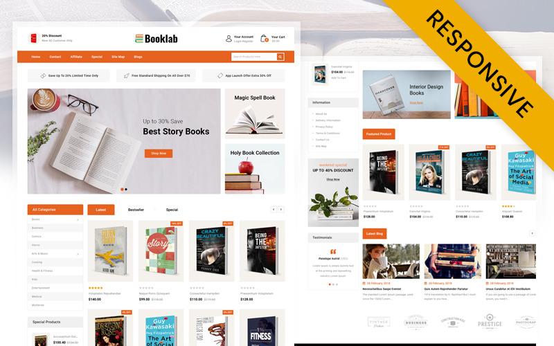 Booklab - Modelo OpenCart da Loja de Livros