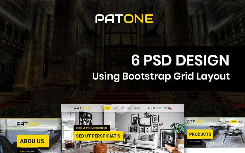 Patone - PSD шаблон магазина ковров