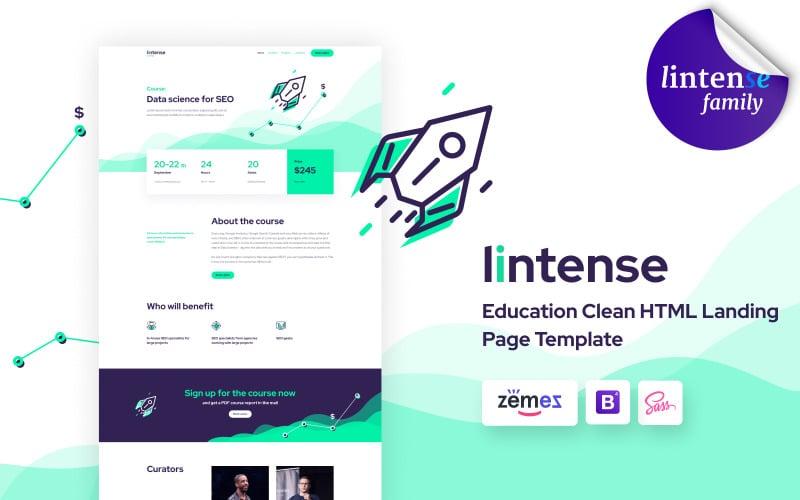 Lintense-cursus - Onderwijs Schone HTML-bestemmingspagina-sjabloon