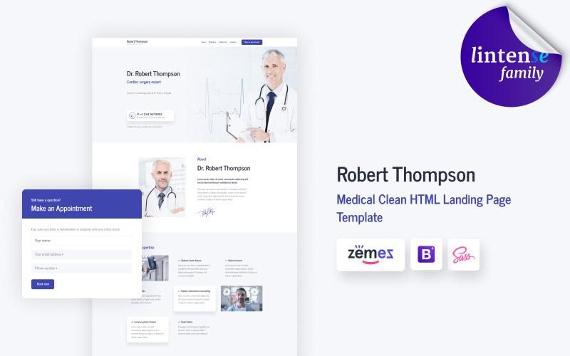 Lintense Doctor - Шаблон цільової сторінки для медичного чистого HTML