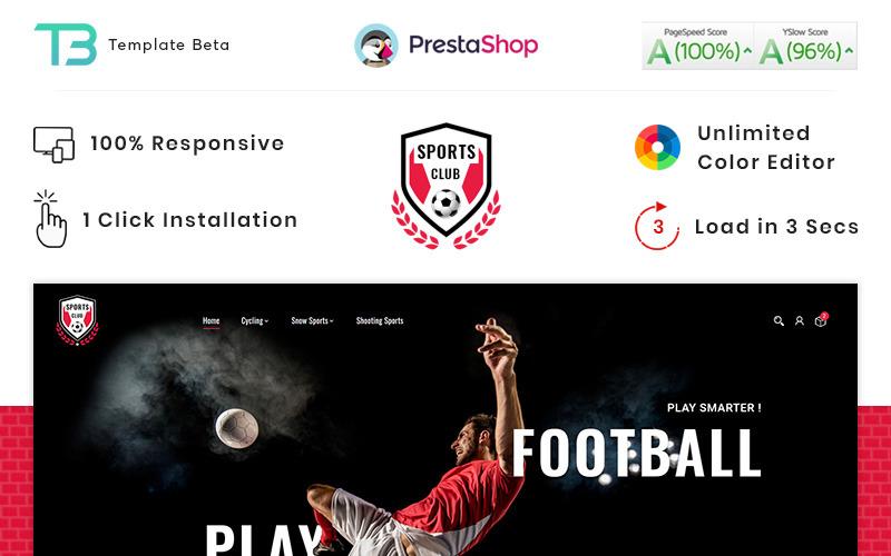 Sport Club - Sport Nutrition Gym Store PrestaShop-tema