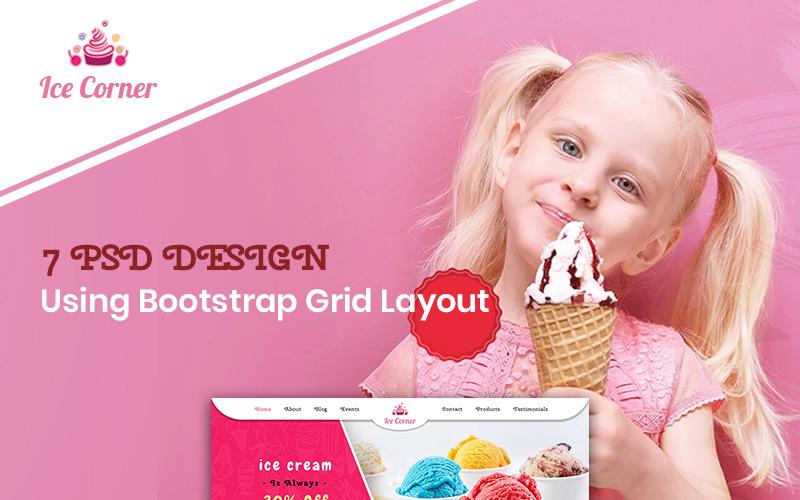 Ice Corner - Ice Cream Shop PSD Template
