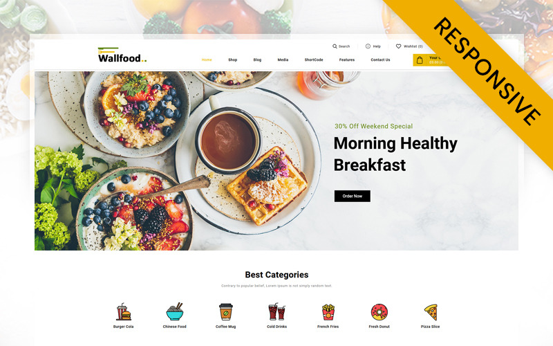 WallFood - Food & Restaurant Store WooCommerce-Thema