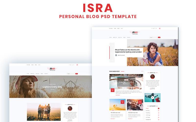 ISRA - PSD шаблон личного блога