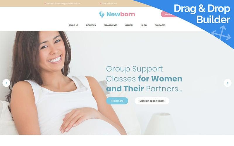 Newborn - Pregnancy Support Moto CMS 3 Template