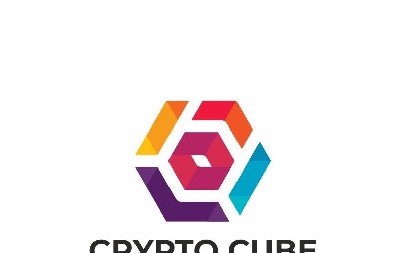 Шаблон логотипа Crypto Cube