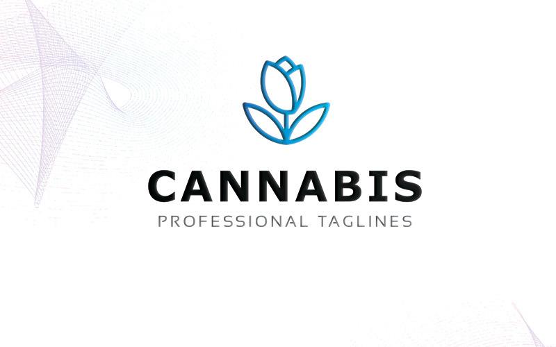 Шаблон логотипа каннабиса