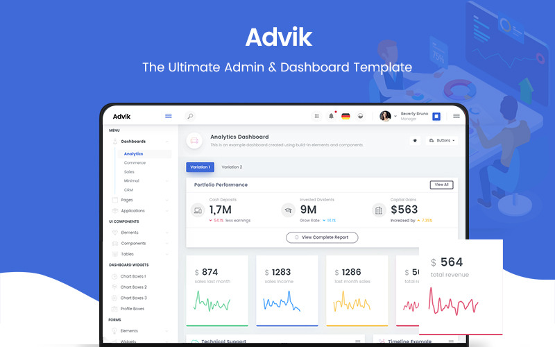 Advik The Ultimate Admin Template