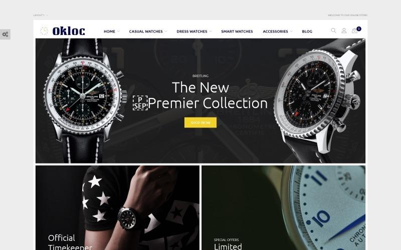 Okloc - Тема магазину годинників Magento