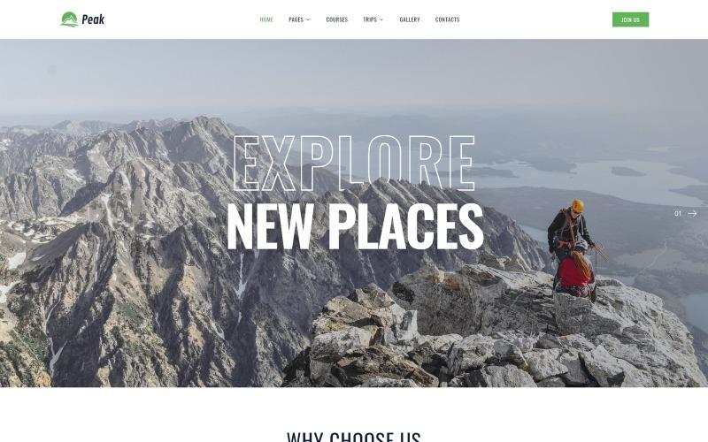 Peak - Tırmanma Çok Sayfalı Temiz HTML Web Sitesi Şablonu