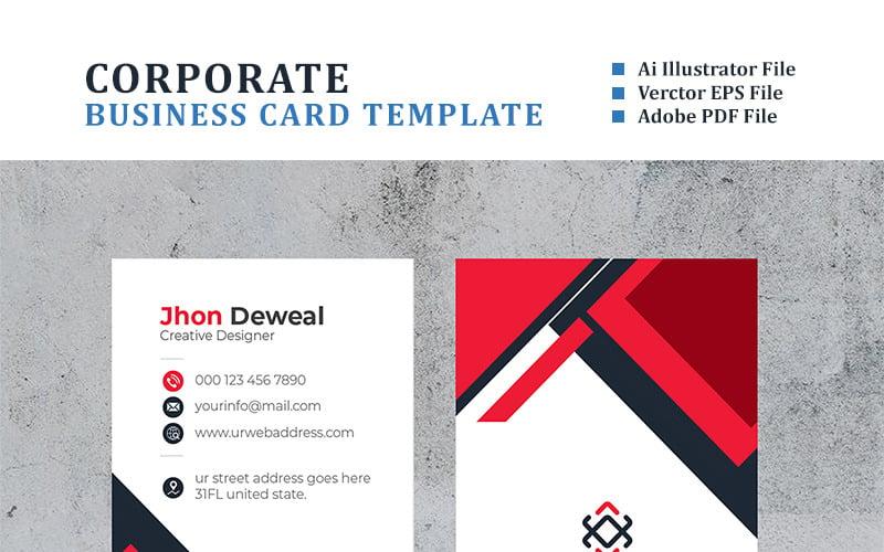 Вертикальная визитка Deweal - шаблон фирменного стиля