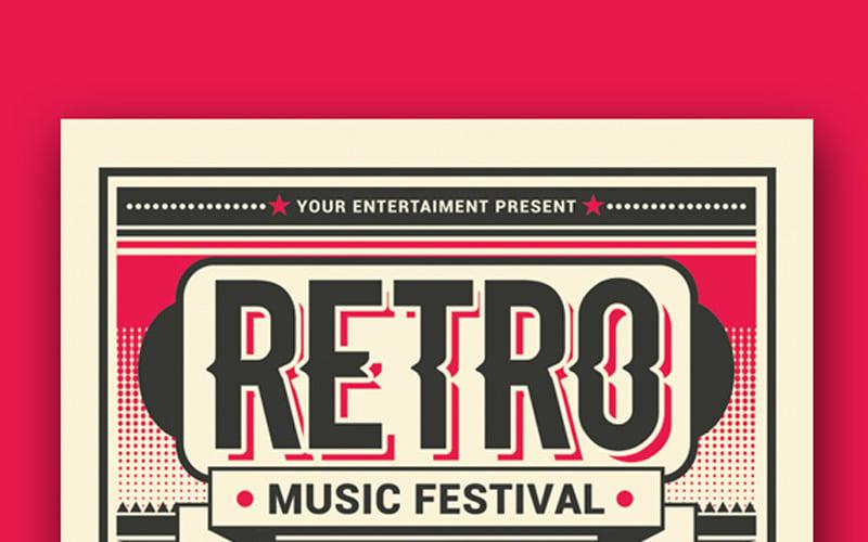 Фестиваль ретро музыки - шаблон фирменного стиля
