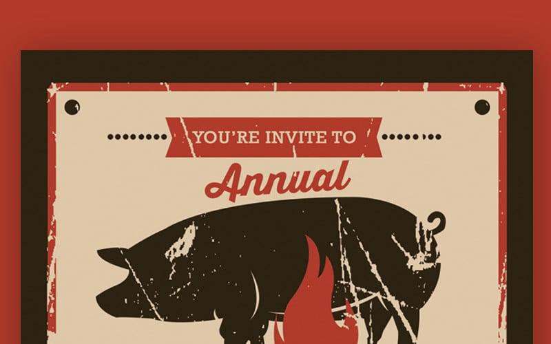 Pig Roast Event Flyer - Corporate Identity Template