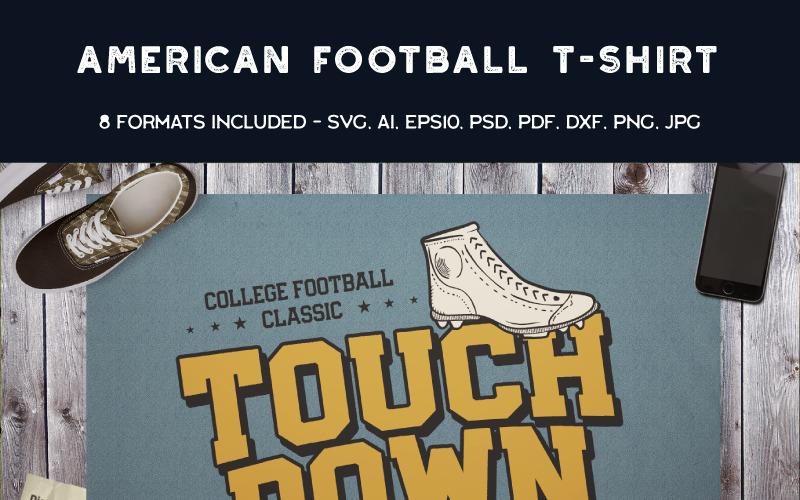 Futbol amerykański Touch Down - projekt koszulki