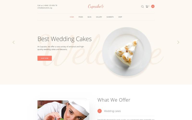 Cupcake - Modèle de site Web propre de pâtisserie
