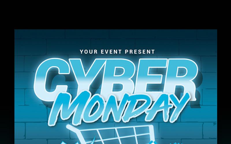 Cyber Monday Sale Flyer - Corporate Identity Template