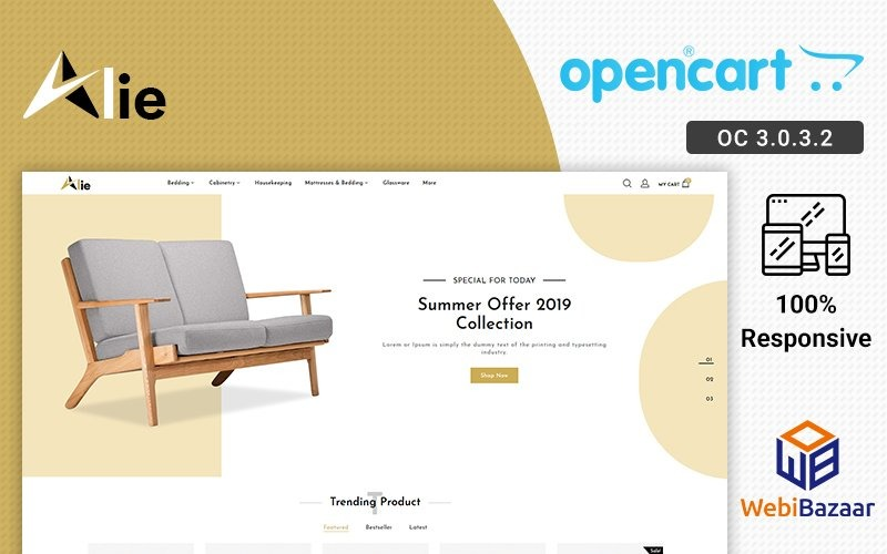 Alie En İyi Mobilya OpenCart Şablonu